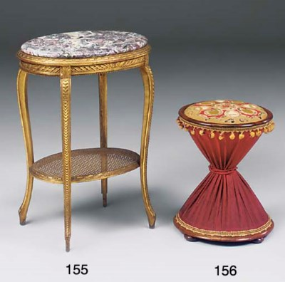A French giltwood oval centre