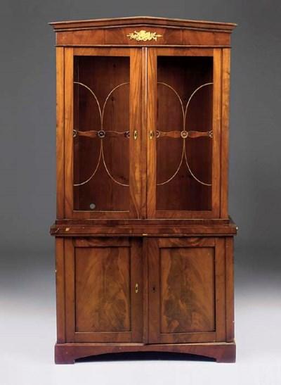 A French mahogany bookcase