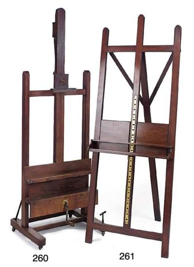 An English mahogany 'H' frame