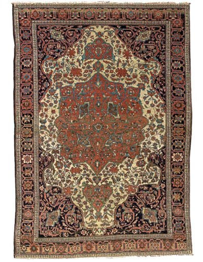An antique Feraghan rug, West