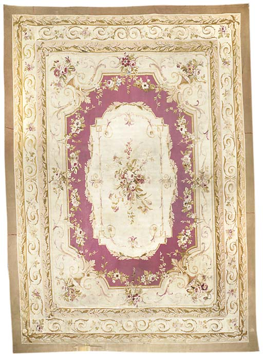 An antique Aubusson carpet, Fr