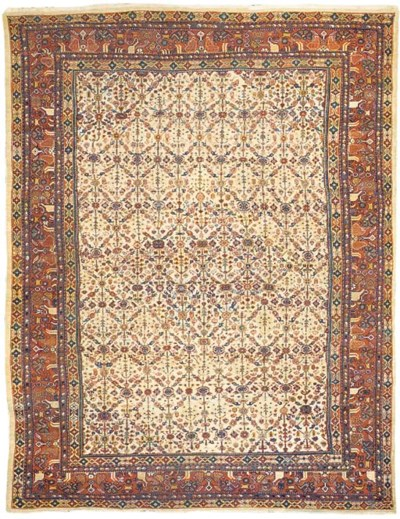 An antique Sultanabad carpet,