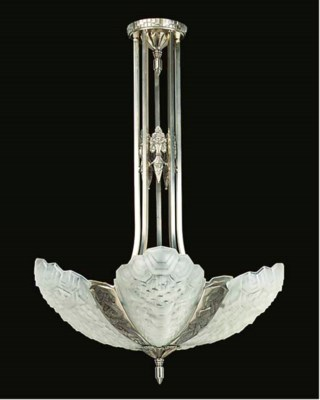 AN ART DECO NICKEL-PLATED AND