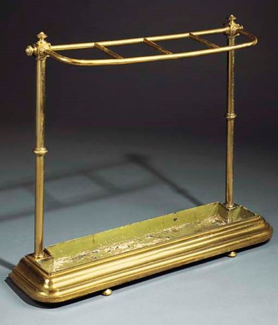A BRASS WALKING STICK STAND