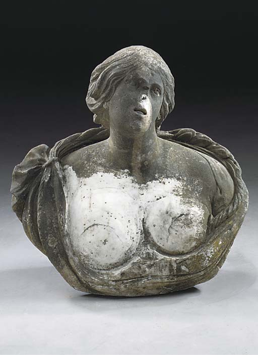 A FLEMISH SCULPTED WHITE MARBL