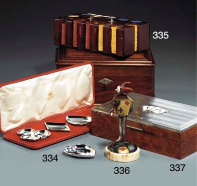 A CONTINENTAL SILVER AND BURR-