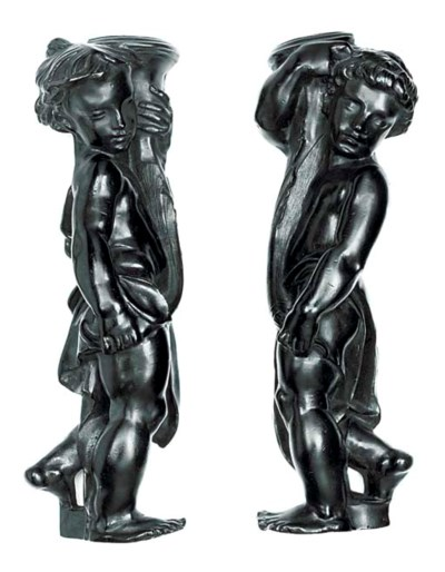 A PAIR OF BRONZE RELIEF MODELS