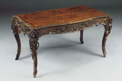 A VICTORIAN GESSO, WALNUT AND