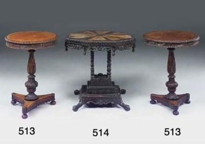 A CEYLONESE EBONY CENTRE TABLE