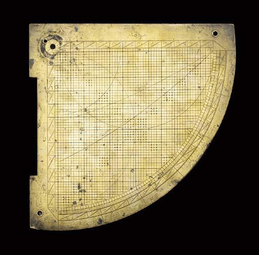 A trigonometric quadrant, unsi
