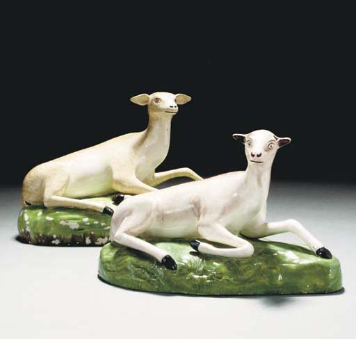 Two Staffordshire pearlware mo