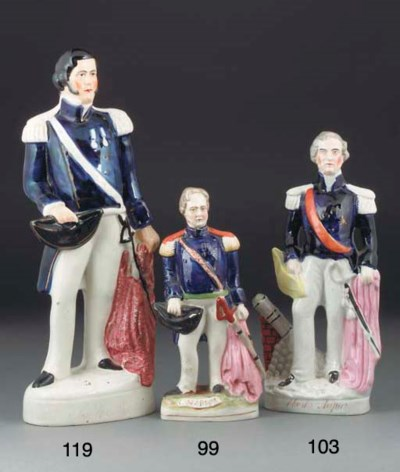 A Staffordshire figure of Sir
