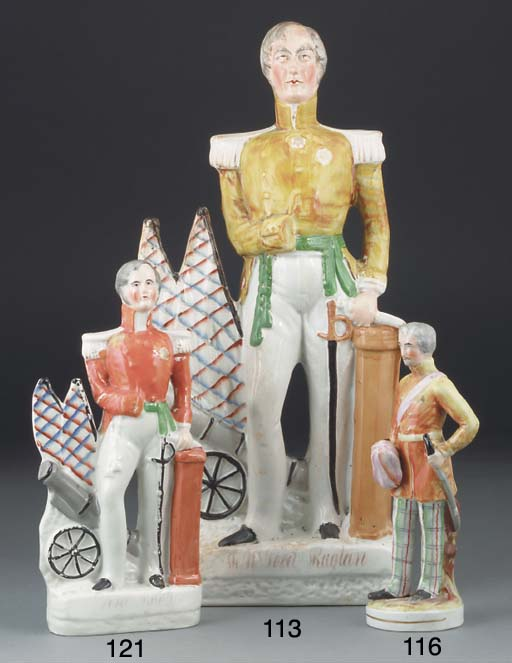 A Staffordshire figure of a ge