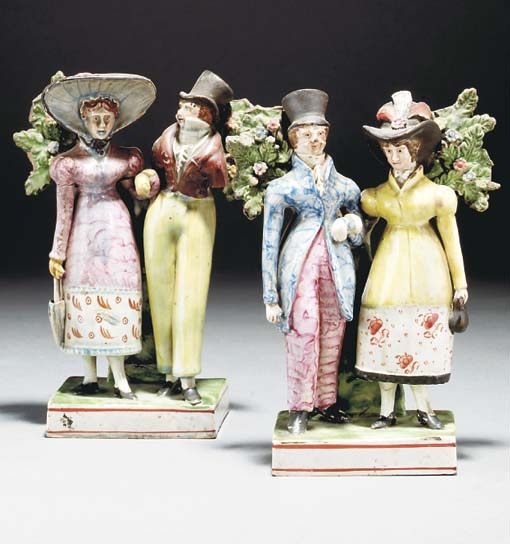 Two Staffordshire pearlware gr