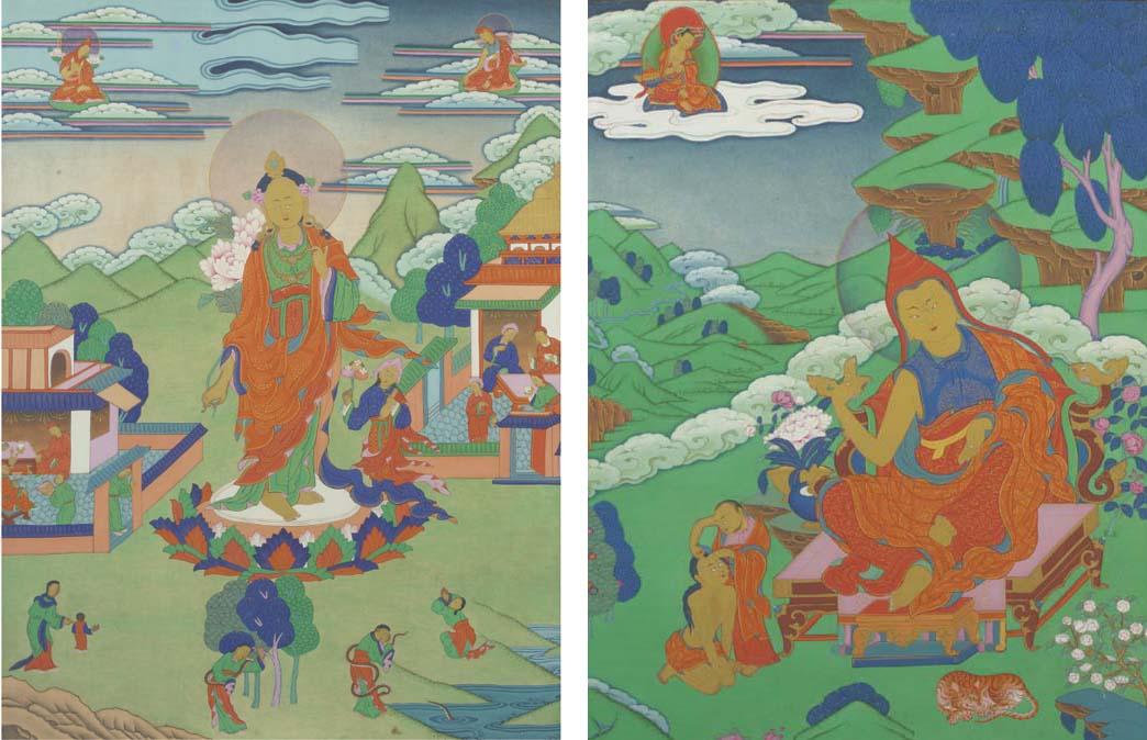 Two Tibetan Thangkas, 19th/20t