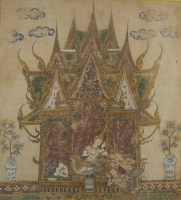 A Thai painting on cloth, 19th