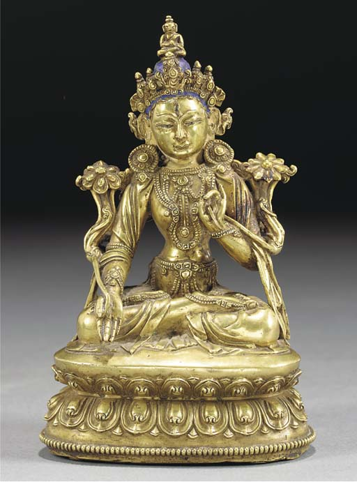 A Sino-Tibetan bronze model of
