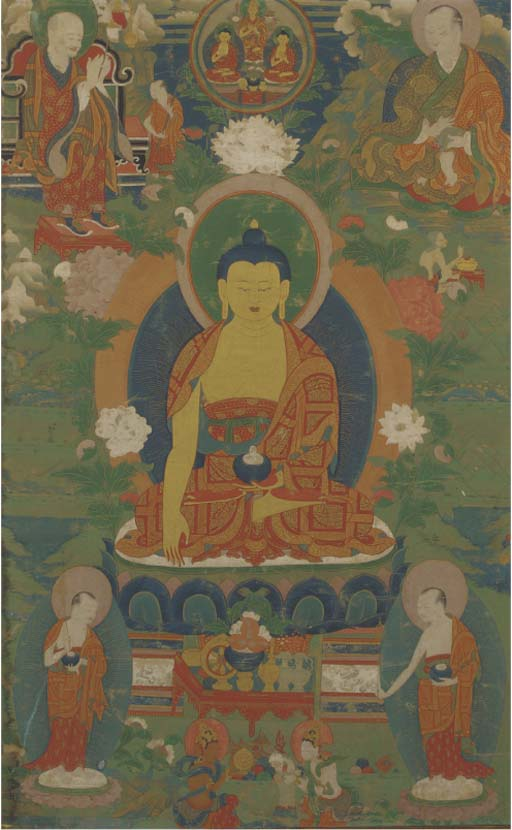 A Tibetan Thangka, 18th/19th c