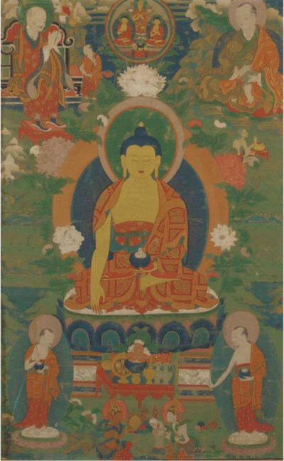 A Tibetan Thangka, 18th/19th c