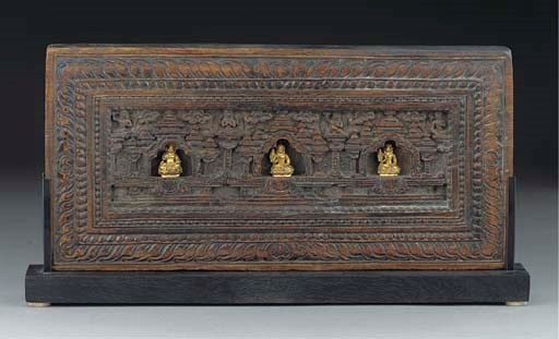 A Nepalese wood panel, 17th/18