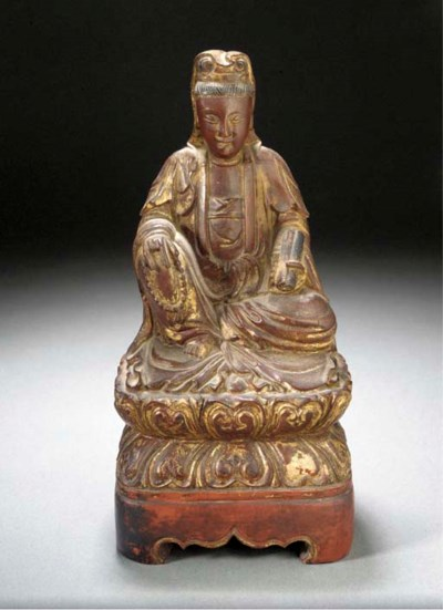 A Chinese gilt wood figure of