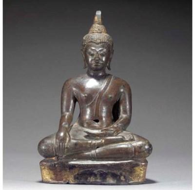 A Thai bonze figure of Buddha,