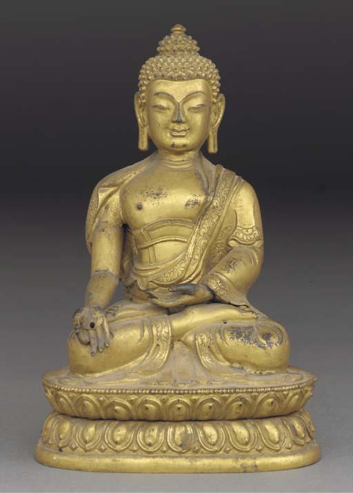A Sino-Tibetan repousse gilt c