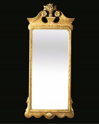 A gilt composition pier mirror