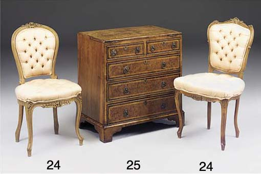 A walnut bachelors chest of dr