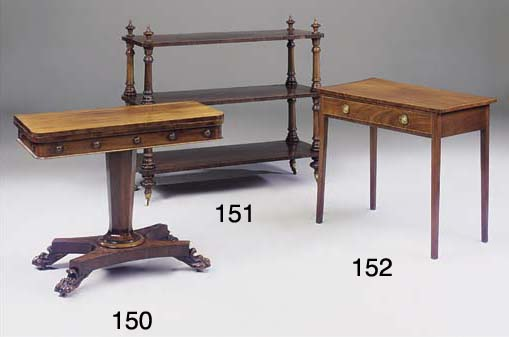 A REGENCY MAHOGANY GAMES TABLE