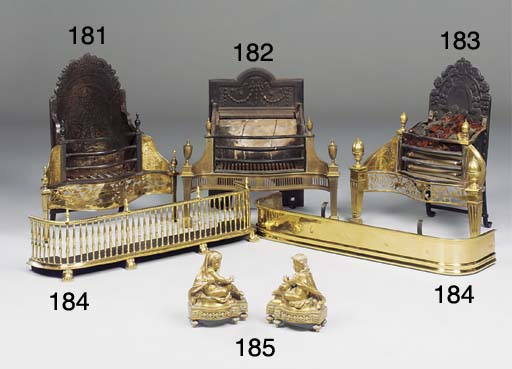 A Victorian brass fender