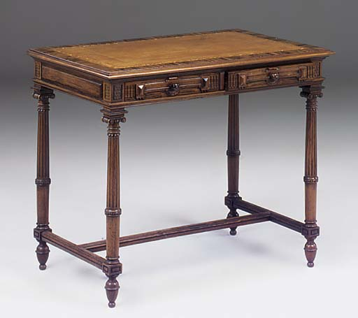 A ROSEWOOD WRITING TABLE