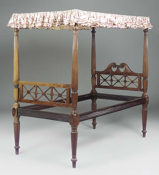 AN ANGLO INDIAN ROSEWOOD FOUR-