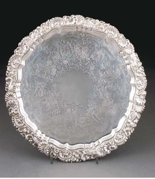 An Edwardian Silver Salver
