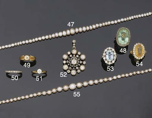 A diamond cluster pendant