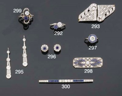 A DIAMOND AND SAPPHIRE TWO STO
