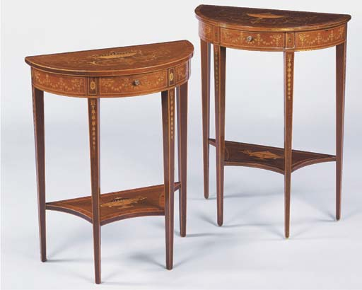 TWO SIMILAR EDWARDIAN MAHOGANY