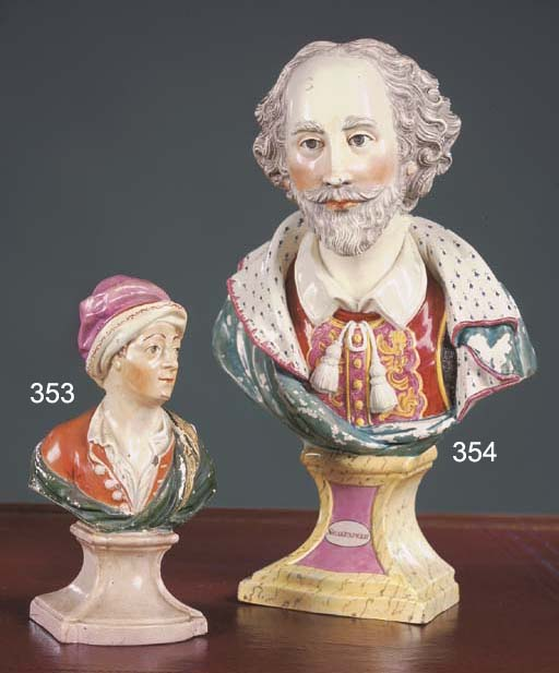 A Staffordshire pearlware bust