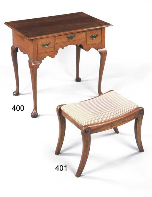 A REGENCY MAHOGANY STOOL