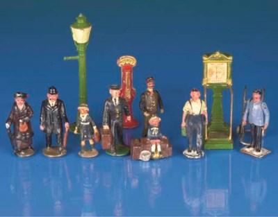 Railway figures and station fu