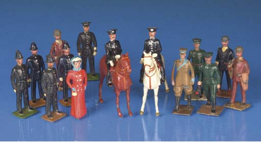 Britains from Set 168 Civilian and Railway Figures