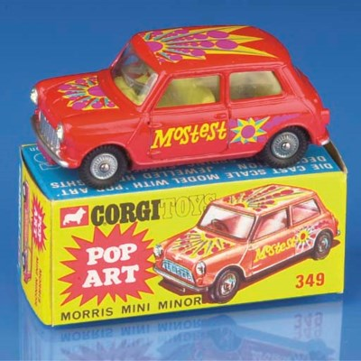 A Corgi red 349 Pop Art Morris