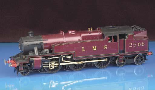 Scratch-built 0 Gauge two-rail electric LMS 2-6-4 Tank locomotive