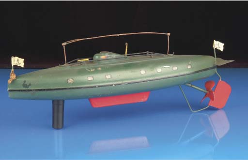 A  Märklin clockwork Submarine