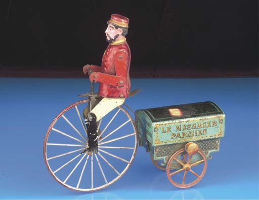 A French flywheel-drive 'Le Messager Parisien' Delivery Cycle