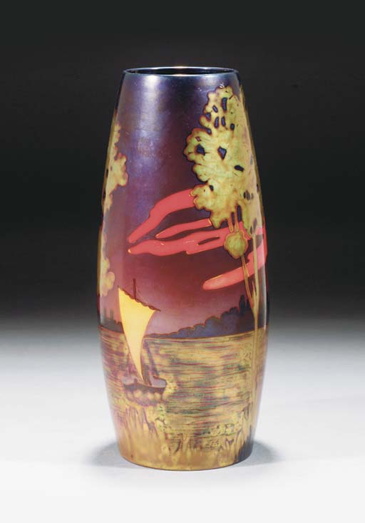 A RARE POLYCHROME EOSIN-GLAZED