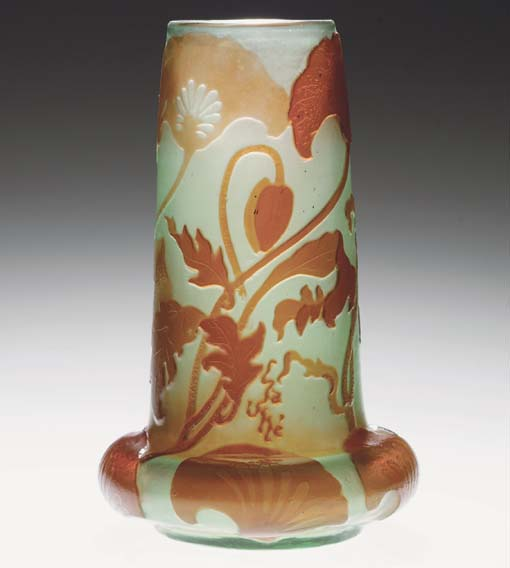 A FIRE-POLISHED CAMEO GLASS VA