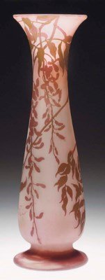 A LARGE CAMEO GLASS VASE
