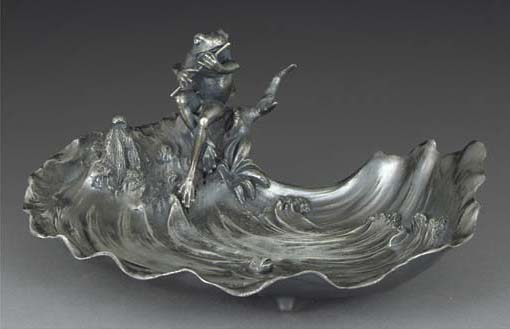 A PEWTER TRAY