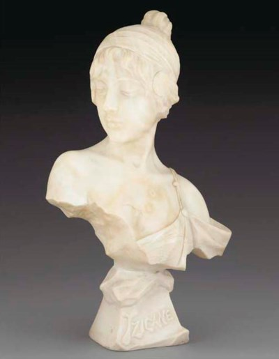 'TZIGANE' A MARBLE BUST